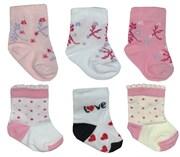 Носки для новорожденных (комплект 3 шт), Т 2525